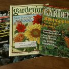 Lot of 4 -Organic Gardening, Gardening How-To,Birds & Blooms, Country -
