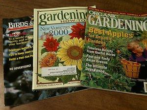 Lot of 4 -Organic Gardening, Gardening How-To,Birds & Blooms, Country -