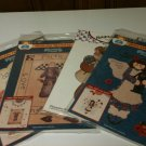 Set of 4 Iron-On-Transfers, Heavenly Friends Angels and Teddy Bear - New