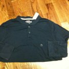 Mens Aeropostale L/S Navy Blue Pullover 2 Button T-Shirt - Size Large - NWT