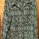 Sag Harbor Black & Gray Long Sleeve Blouse Size Medium - Nice-- L@@K!!