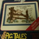 """Pig Tales """"WHOOPS"""" Counted Cross Stitch Kit Stoney Creek"""