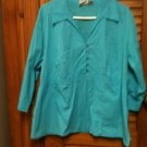 Carolina Colours Plus 3/4 Sleeve Stretch Pull Over  Blouse Top - size 18- Cute
