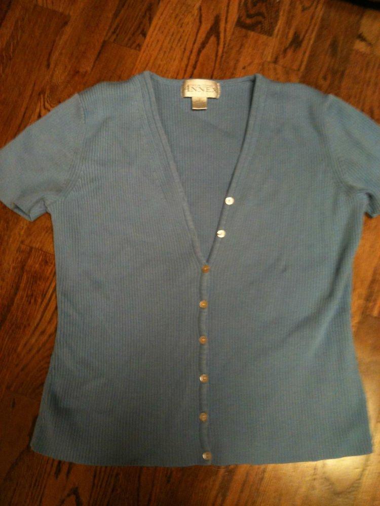Casual Corner Annex S/S Light Blue Sweater Vest Size Small NICE!!