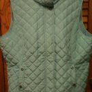 VAN HEUSEN WOMEN LARGE BLUE AQUA SLEEVELESS VEST - SO CUTE, LIGHTWEIGHT & WARM