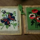 Lot of 2 Vintage Completed Cross Stitch Pieces - Ready to Frame