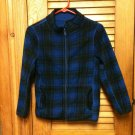 Girls Faded Glory Reversible Blue/Blue-Black Plaid Jacket Coat Size L(10/12)