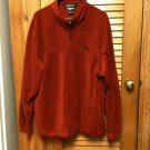 Winchester Burgundy Zippered Front Polyester Fleece Long Sleeve Jacket Men's XL