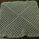 Beautiful Vintage Hand Crocheted Square Cream Doilie