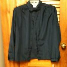 Ladies Ship 'n  Shore L/S Button Front Navy Blue Blouse Top - Size 18 NWT