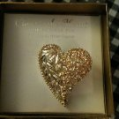 Close to the Heart Collectible Genuine Austrian Crystal Heart Pin - NEW in Box