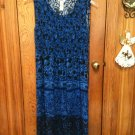 CUTE LONG DRESS/Jumper  with Shirring on Bodice  BY R&K ORIGINALS SIZE 14