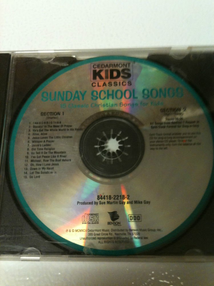 Sunday School Songs By Cedarmont Kids Cd Benson Records