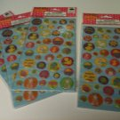 Lot of 4 Packages  Crystal EASTER Stickers ( 40 each) 160 Total - New in Pkg.