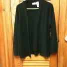 White Stag Women's Plus  Black Cardigan with attached Shell - Size 16W