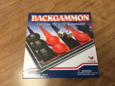 BACKGAMMON - Full size fun for the Whole Family - New - by Cardinal Industries