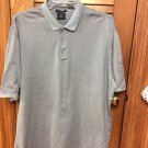 DOCKERS GOLF 100%  MERCERIZED COTTON MEN'S SHIRT BLACK & GRAY SIZE XL