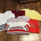 Six  Women's Sweaters-Christopher  & Banks, B Moss, Pierre Cardin,& More Large