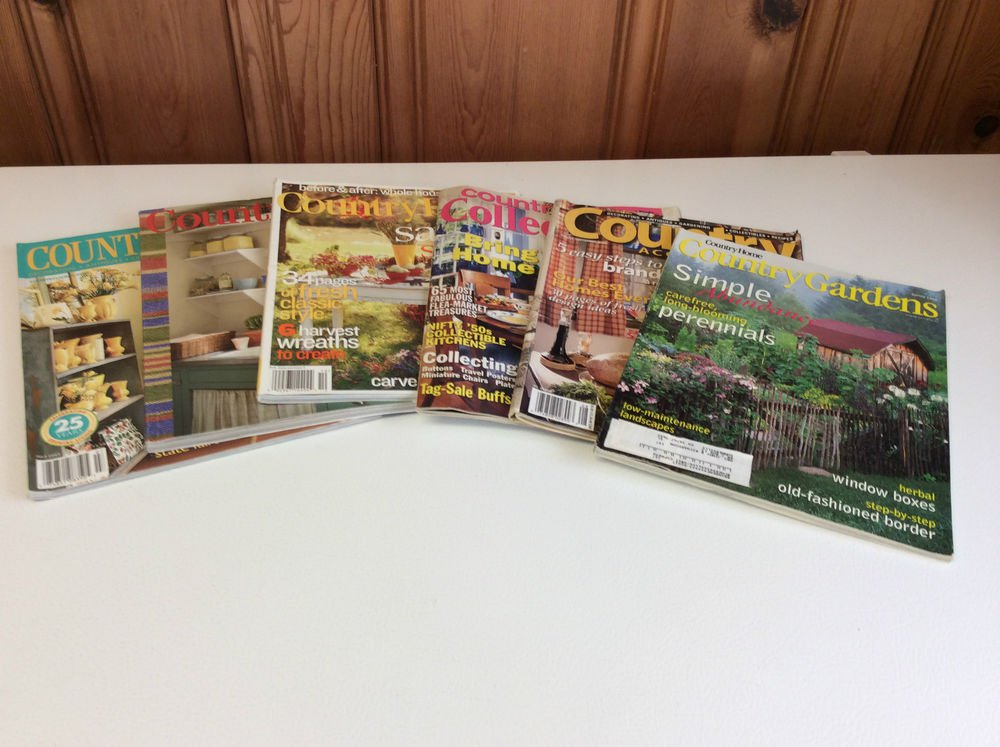 Lot of 6 Country Living/Country Gardens/Country Accents/Country Collectibles,etc