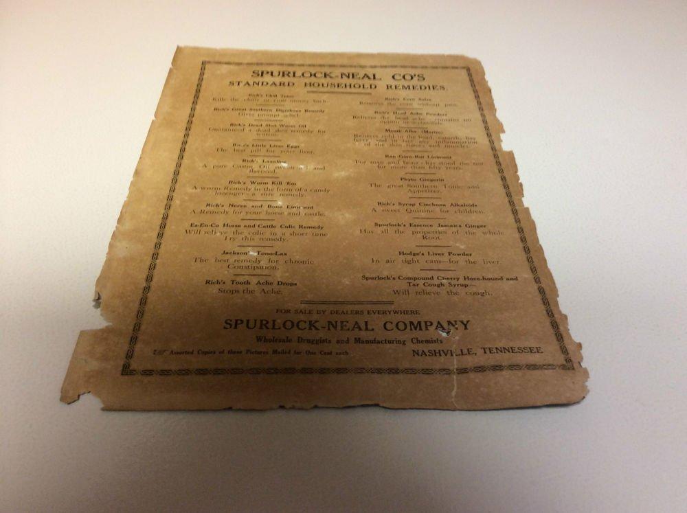 Vintage Spurlock-Neal Co.(1800's) Goodnight Darling by M. Schweig Ad & Premium