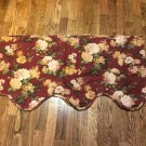 "JC PENNEY HOME COLLECTION 82""W X 19.5""D Burgundy/Wine Valance"