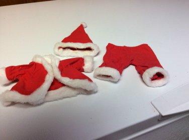 Santa Claus Coat, Pants, Cap for Doll- Age?? Size of Doll?? - see Description