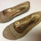 Maurice Plaid Linen Look with Swede Toe Ballet Style Flats -  7 1/2