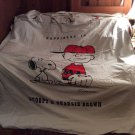 1971 Peanuts' Snoopy&Charlie Brown White Twin Size Spread -Irregular-100% Cotton