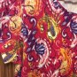 Kim Rogers XL Vibrant Paisley Print Round Neck S/S Cotton/Spandex Blend Top