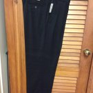 Flexwaist Van Heusen Pants W36L29 NavyW/stripe NWT Pleated Front Cuffed