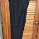 Flexwaist Van Heusen Pants W36L29 Gray w/stripe Pleated Front Cuffed