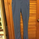 Old Navy Blue Skinny Cotton Adjustable Waist Pants Size 14