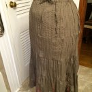 Kommotion NY Boho Hippy Lined Embroidered Tiered Skirt Sz S