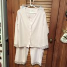 Secret Treasures Pink Lace & Satin Trimmed Pajamas Set Size Large