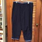 Ladies Catalina Nylon Athletic Sports Wind Parachute Ankle Zip Pants XL