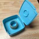 Vintage Tupperware Blue Label Dispenser w/Labels For Freezer/Fridge Containers
