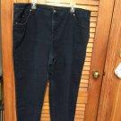 Womens Gloria Vanderbilt ADRIANNE Slim Fit Tummy Slimmer Dark Jeans 24W