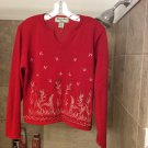 Reference Point Petites Red Embellished Sweater PM