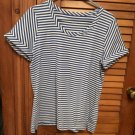 Womens Talbots Blue/White Stripe Top S/S XL