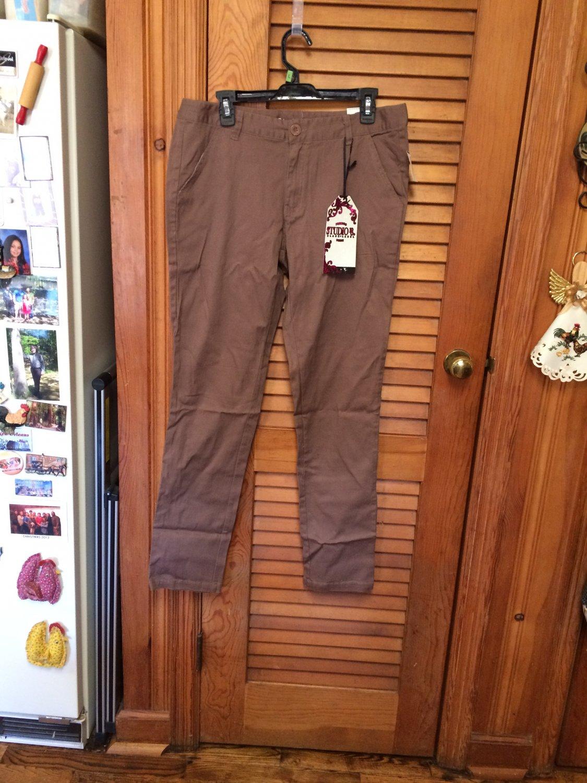 Studio 18 Mocha Brown Cotton/Spandex Pants 14W NWT