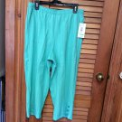 Niki Womens Capris Cropped Pants Lt Jaded Basketweave SZ 14 NWT SRP $26