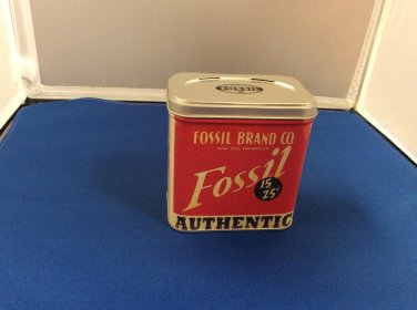 Authentic Fossil Brand Co Watch BOX tin -7859 BRC 0078 5/98