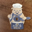 Cooking Chef Pig W/Moveable (Switches light on & Off) Spoon Light Switch Cover