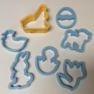Set of 7 Easter Cookie Cutters Molds (Play Do Molds, Sandwich Cutters)