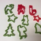 Set of 9 Plastic Christmas Cookie Cutters Sandwich/Play-Do/Jell-O Jigglers