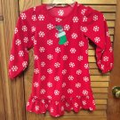 Red Carter's Just One You Christmas Fleece Girls Ruffled Gown 5T