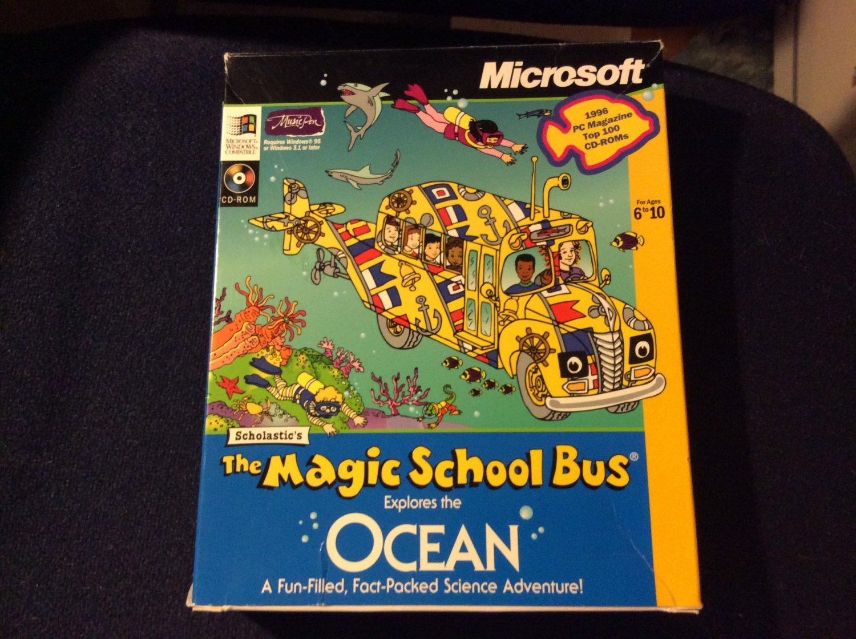 Scholastic's The Magic School Bus Explores the Ocean (PC, 1996)