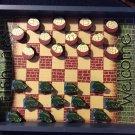 RARE Fish Tales Fish vs Fishing Floats Wooden Checkers Set with Tray