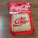 6 Plastic & Natural Cork Diet Coke Coca-Cola Coasters NIB