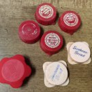 Vintage Lot Snap On Bottle Caps Lids - Western Carloading Co., Sunbeam Bread